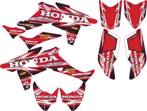 Комплект наклеек на HONDA TRX-450 7
