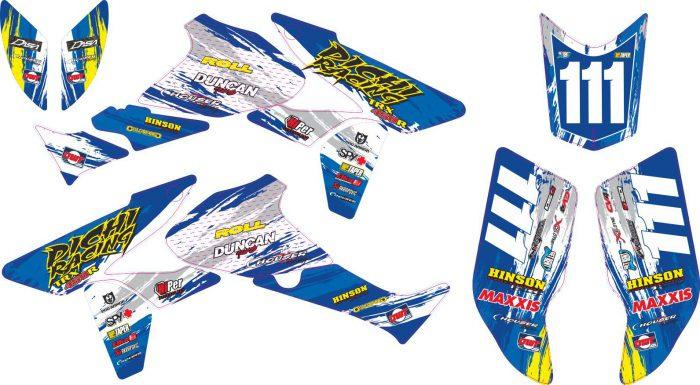 Комплект наклеек на HONDA TRX-450-DICHI-RACING