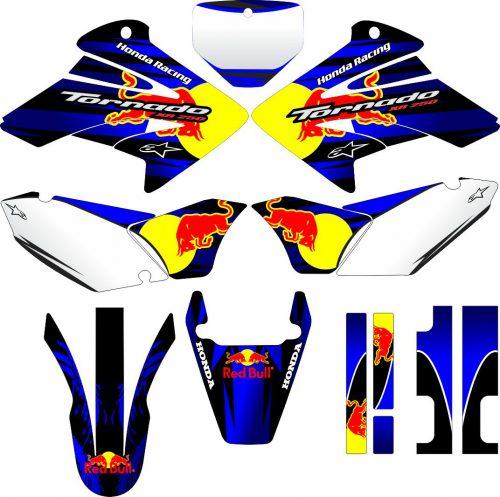 Комплект наклеек на HONDA XR-250 TORNADO-01 2001-2009