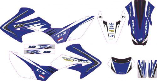 Комплект наклеек на HONDA XR-250 TORNADO-20 2001-2009