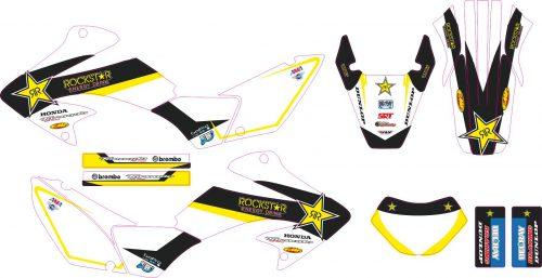 Комплект наклеек на HONDA XR-250 TORNADO-21 2001-2009