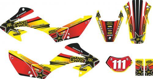 Комплект наклеек на HONDA XR-250 TORNADO-22 2001-2009