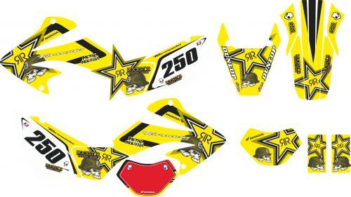Комплект наклеек на HONDA XR-250 TORNADO-24 2001-2009
