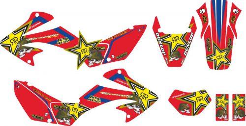 Комплект наклеек на HONDA XR-250 TORNADO-26 2001-2009