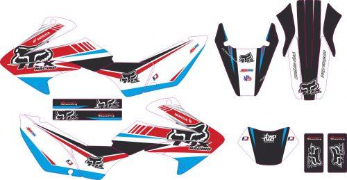 Комплект наклеек на HONDA XR-250 TORNADO-29 2001-2009