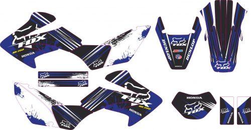 Комплект наклеек на HONDA XR-250 TORNADO-30 2001-2009
