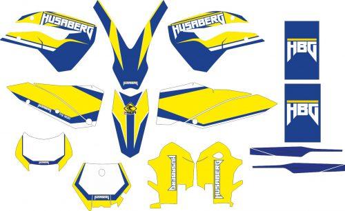 Комплект наклеек на HUSABERG TE-300 2011-2015