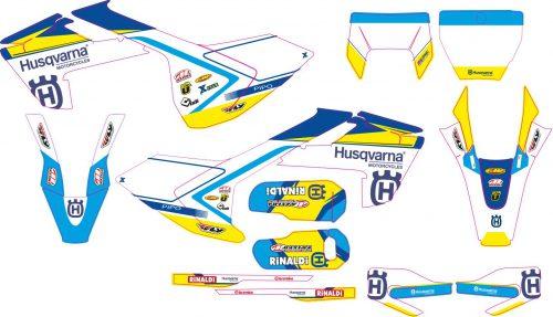 Комплект наклеек на HUSQVARNA TC-FC-125-250-450 2016-2017 ENDURO-2017-2