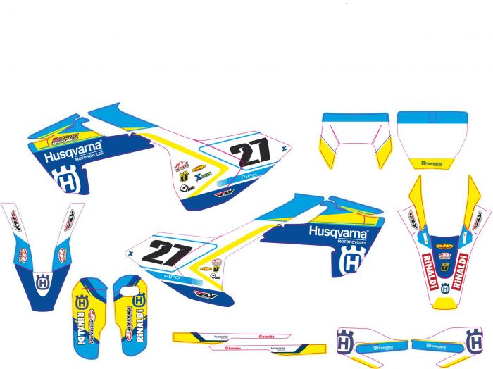 Комплект наклеек на HUSQVARNA TC-FC-125-250-450 2016-2017 ENDURO-2017-3