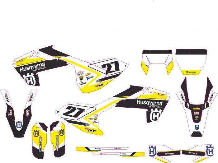 Комплект наклеек на HUSQVARNA TC-FC-125-250-450 2016-2017 ENDURO-2017-4