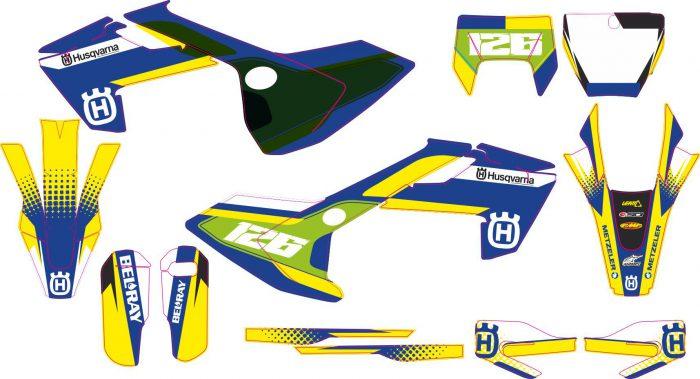 Комплект наклеек на HUSQVARNA TC-FC-125-250-450 2016-2017 ENDURO-2017-HITACHI-21