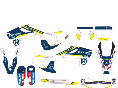 Комплект наклеек на HUSQVARNA TC-FC-125-250-450 2016-2017 ENDURO-2017-NUEVO