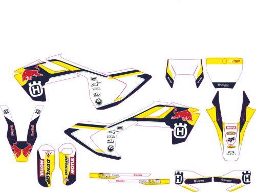 Комплект наклеек на HUSQVARNA TC-FC-125-250-450 2016-2017 ENDURO-2017--RED-BULL