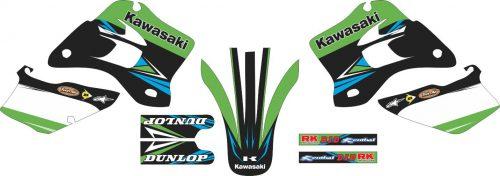 Комплект наклеек на KAWASAKI KDX-200 1995-2008