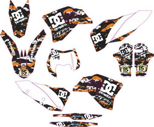 Комплект наклеек на KTM EXC 2008-2011 02