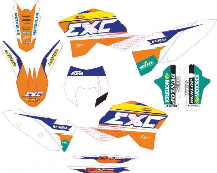 Комплект наклеек на KTM EXC 2008-2011 04
