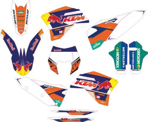 Комплект наклеек на KTM EXC 2008-2011 05