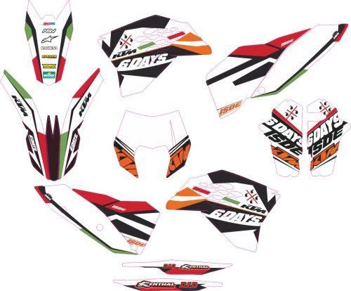 Комплект наклеек на KTM EXC 2008-2011 06