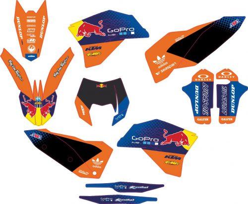 Комплект наклеек на KTM EXC 2008-2011 07