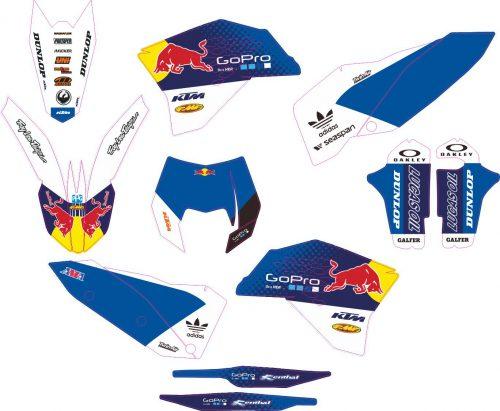 Комплект наклеек на KTM EXC 2008-2011 09