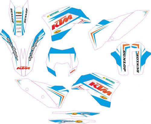 Комплект наклеек на KTM EXC 2008-2011 10