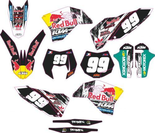 Комплект наклеек на KTM EXC 2008-2011 11