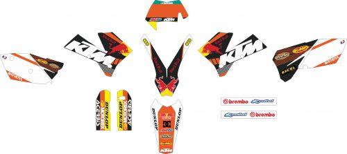 Комплект наклеек на KTM EXC-450-2004-2006