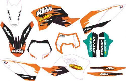Комплект наклеек на KTM SX 2007-2010