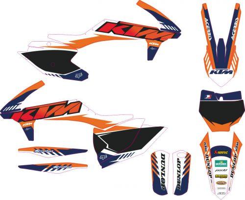 Комплект наклеек на KTM SXF-450-250 2016-2018 5