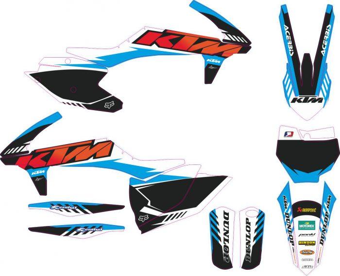 Комплект наклеек на KTM SXF-450-250 2016-2018 6