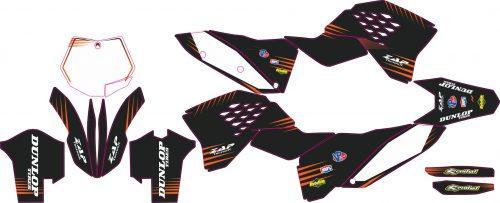 Комплект наклеек на KTM SX-SXF 2007-2010