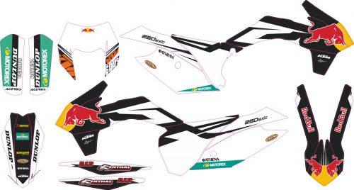Комплект наклеек на KTM EXC-XC-W-XCF-W 2014-2016 05