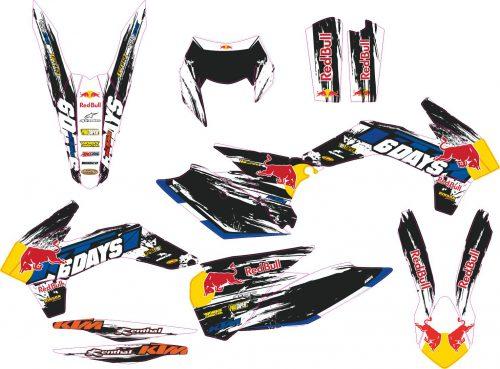 Комплект наклеек на KTM EXC-XC-W-XCF-W 2014-2016 08