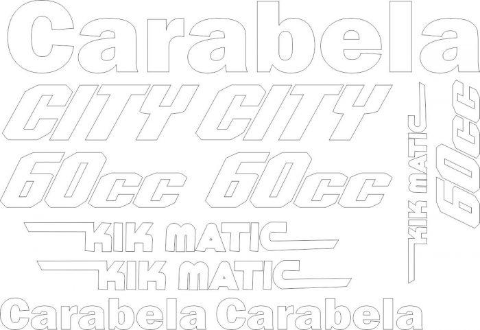 Комплект наклеек на Carabela City 60cc