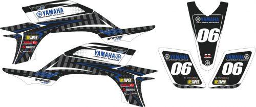 Комплект наклеек на YAMAHA YFZ-450R 2003-2008 5