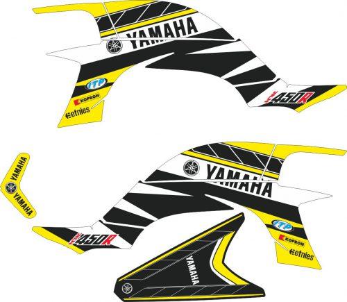 Комплект наклеек на YAMAHA YFZ-450R 2003-2008 6