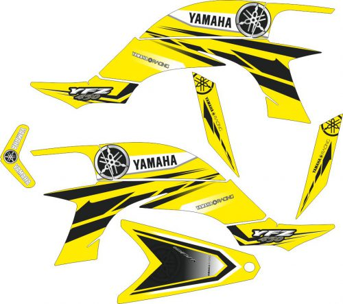 Комплект наклеек на YAMAHA YFZ-450R 2003-2008 10
