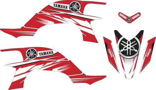 Комплект наклеек на YAMAHA YFZ-450R 2003-2008 14