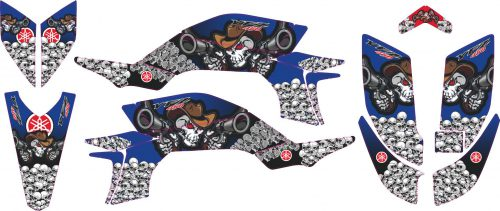 Комплект наклеек на YAMAHA YFZ-450R 2003-2008 BLUE