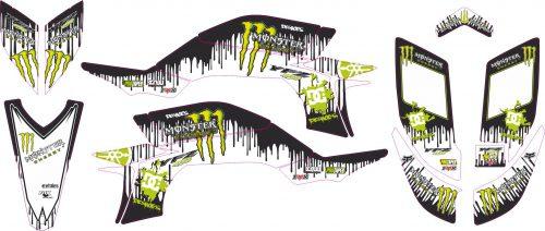 Комплект наклеек на YAMAHA YFZ-450R 2003-2008 KEN-BLOCK