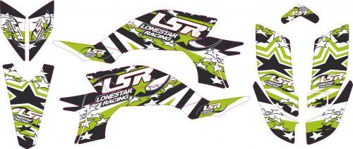 Комплект наклеек на YAMAHA YFZ-450R 2003-2008 LONESTAR-GREEN