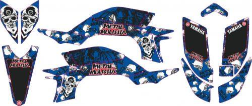 Комплект наклеек на YAMAHA YFZ-450R 2003-2008 METAL-BLUE