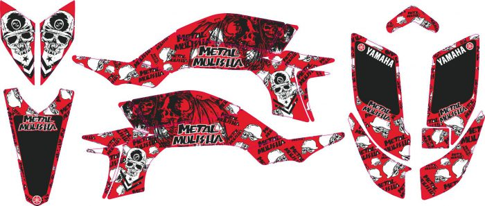 Комплект наклеек на YAMAHA YFZ-450R 2003-2008 METAL-RED