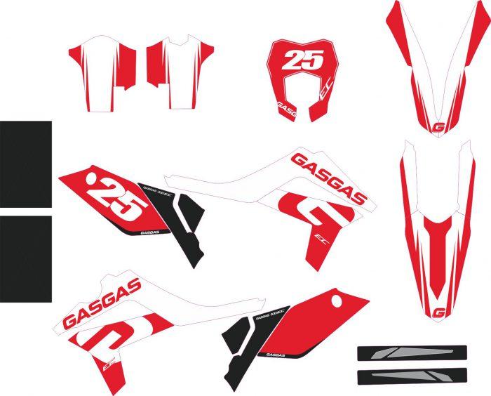 Комплект наклеек на GAS-GAS EC