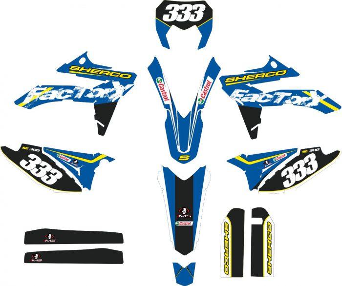Комплект наклеек на SHERCO 300-2012