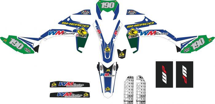 Комплект наклеек на SHERCO DARDANIO-2012-2016