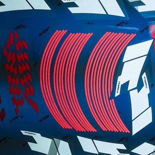 Светоотражайка На колёса, огненный красно-белый комплект