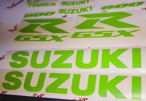 Suzuki GSX-R зеленый неон