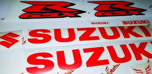 Suzuki GSX-R красный неон