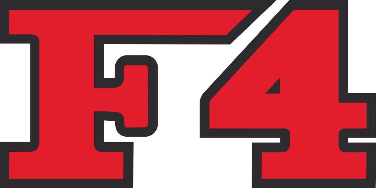 Наклейка логотип F4